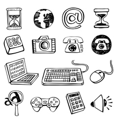 Doodle icon set vector image vector image