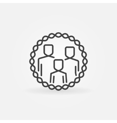Family outline badge vector image vector image
