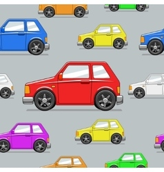 Seamless pattern toy car vector image