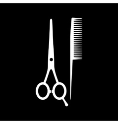 The scissors and comb icon Barbershop symbol vector image vector image
