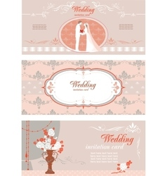 Wedding banners set vector image
