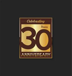30 years anniversary golden design background vector