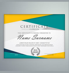 abstract geometric certificate template design vector image