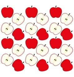 Apples fruits background design vector