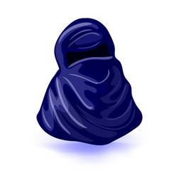 Arabic muslim woman niqab isolated drawing on a vector