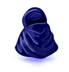 Arabic muslim woman niqab isolated drawing vector