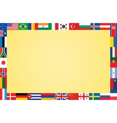 Background with flags vector