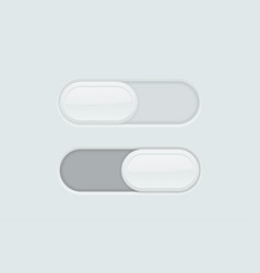 blank toggle switch buttons user interface icons vector image