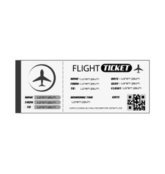 boarding pass icon vector image