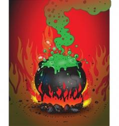 boiling cauldron vector image