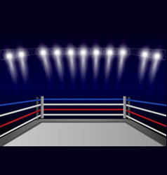 boxing ring concept background realistic style vector image