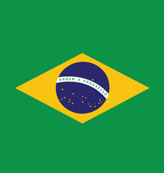 brazil flag for independence day and infographic vector image