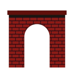 Brick arch icon flat style vector image