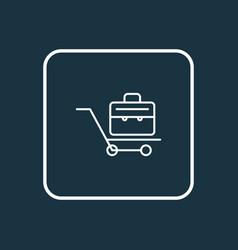 briefcase icon line symbol premium quality vector image