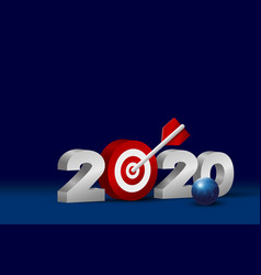 business concept design new year 2020 with vector image