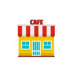 cafe icon flat style vector image