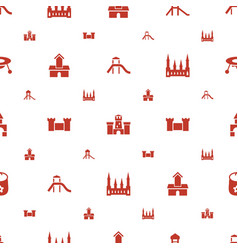 Castle icons pattern seamless white background vector