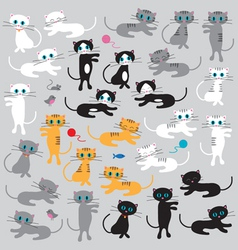 Cats clipart vector