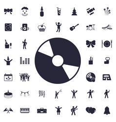 Cd icon vector