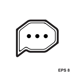 Chat Simple Icon vector