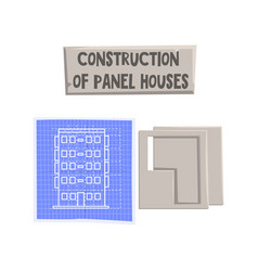 construction of panel house design element can be vector image
