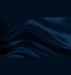 dark blue luxury fabric background smooth shapes vector image