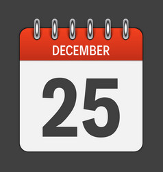 december 25 calendar daily icon vector image