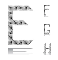 Design abc letters from e to h vector