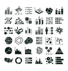 diagram and infographic icons business vector image