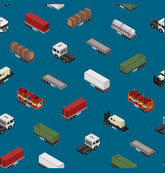 different types trailers seamless pattern vector image
