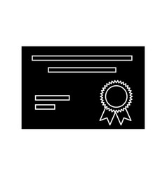 Diploma document certification vector