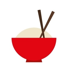 dish rice japanese food icon vector image