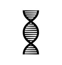 Dna black structure molecule chromosome icon vector