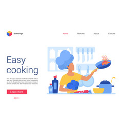 easy cooking website vector image