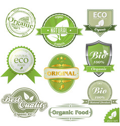 eco labels and stamps vector image