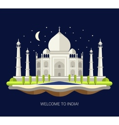 Flat design travel indian vector
