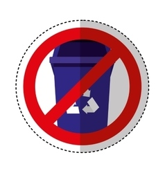 garbage bin isolated icon vector image