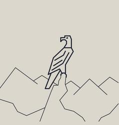 geometric of a eagle vector image