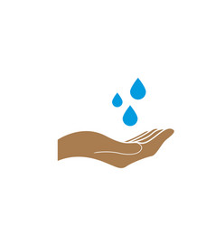 handwash icon design template isolated vector image