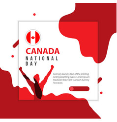 Happy canada national day template design vector