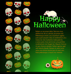 Happy halloween poster with text vector