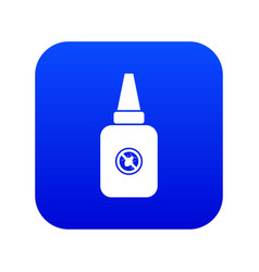 Insect spray icon digital blue vector