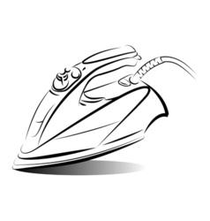 iron vector image