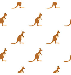Kangaroo pattern seamless vector