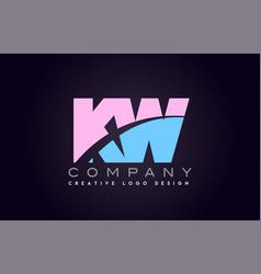 Kw alphabet letter join joined letter logo design vector