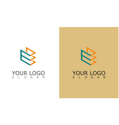 line square shape logo vector image