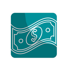 Logotype bill dolar money vector