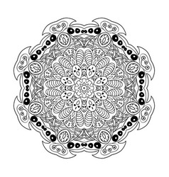 Mandala doodle drawing floral ornament ethnic vector