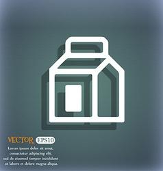 Milk Juice Beverages Carton Package icon symbol on vector