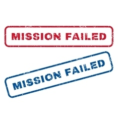 Mission Failed Rubber Stamps vector
